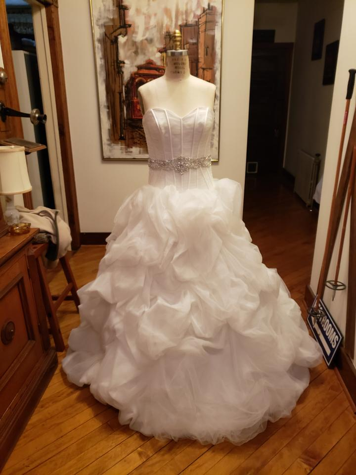 Sottero And Midgley Diamond White Organza Bella Rose Formal Wedding