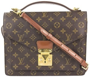 Louis Vuitton Vintage Canvas Satchels Cross Body Bag