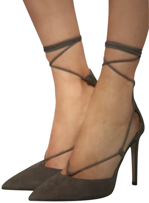 Iris & Ink Taupe And Lace Up Stilettos Pumps Size EU 40 (Approx. US 10) Regular (M, B) Iris & Ink Taupe And Lace Up Stilettos Pumps Size EU 40 (Approx. US 10) Regular (M, B) Image 1