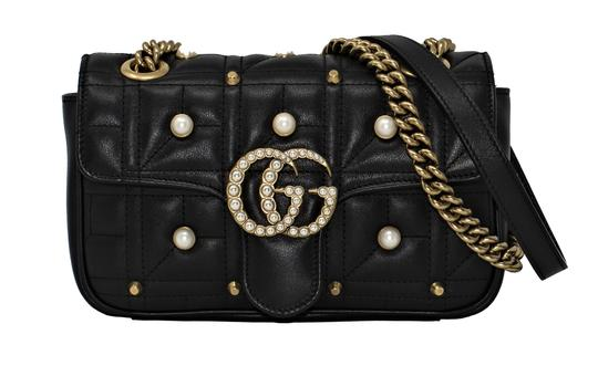 Preload https://item5.tradesy.com/images/gucci-marmont-new-gg-pearly-matelasse-mini-black-leather-shoulder-bag-22655644-0-0.jpg?width=440&height=440