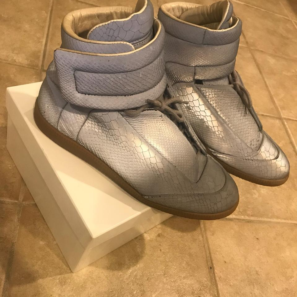 ae155bb8bac Maison Margiela Python Gray Reflective Sneakers Size EU 42 (Approx ...