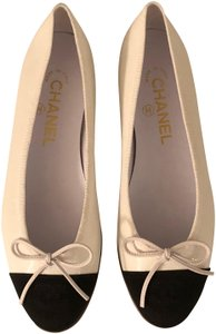 Chanel White & Black Flats