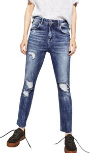 Zara Relaxed Fit Jeans-Medium Wash