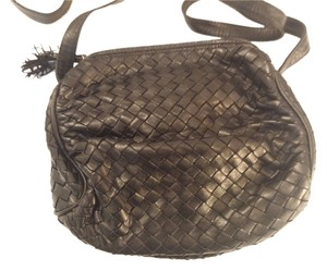 Bottega Veneta Vintage Woven Leather Signed Shoulder Bag