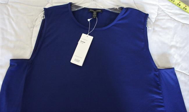 Eileen Fisher Tunic Viscose Jersey Top PERSIAN BLUE