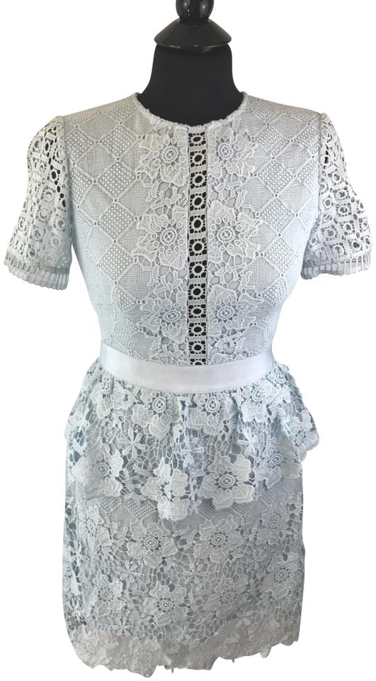 Ted Baker Baby Blue London Dixa Layered Lace Skater Short Cocktail Dress Size 4 S 60 Off Retail