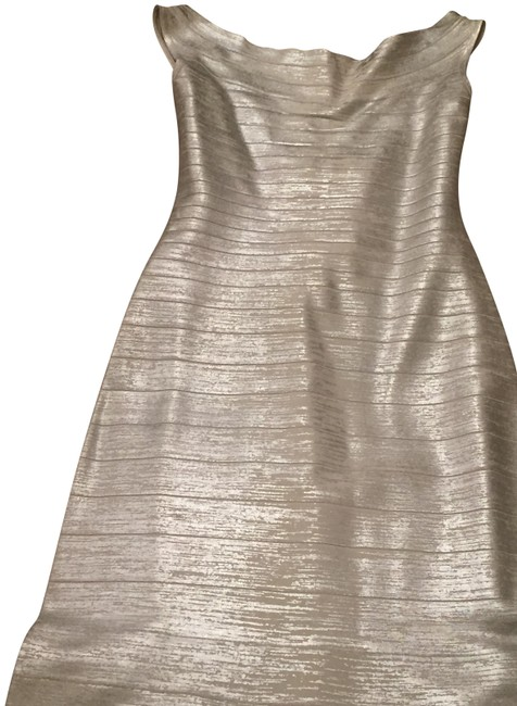 Item - Silver Gown Long Formal Dress Size 8 (M)