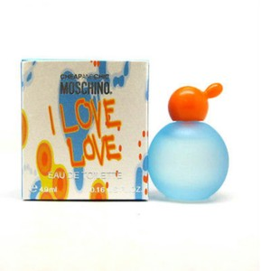 Moschino MINI-CHEAP&CHIC I LOVE LOVE MOSCHINO-FOR WOMEN-EDT-4.9 ML-MADE IN ITALY