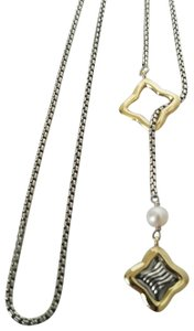 David Yurman David Yurman Quatrefoil lariat Necklace with Pearl