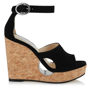 Jimmy Choo Black Wedges