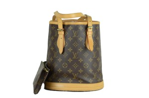 Louis Vuitton Bucket Leather Small Shoulder Bag