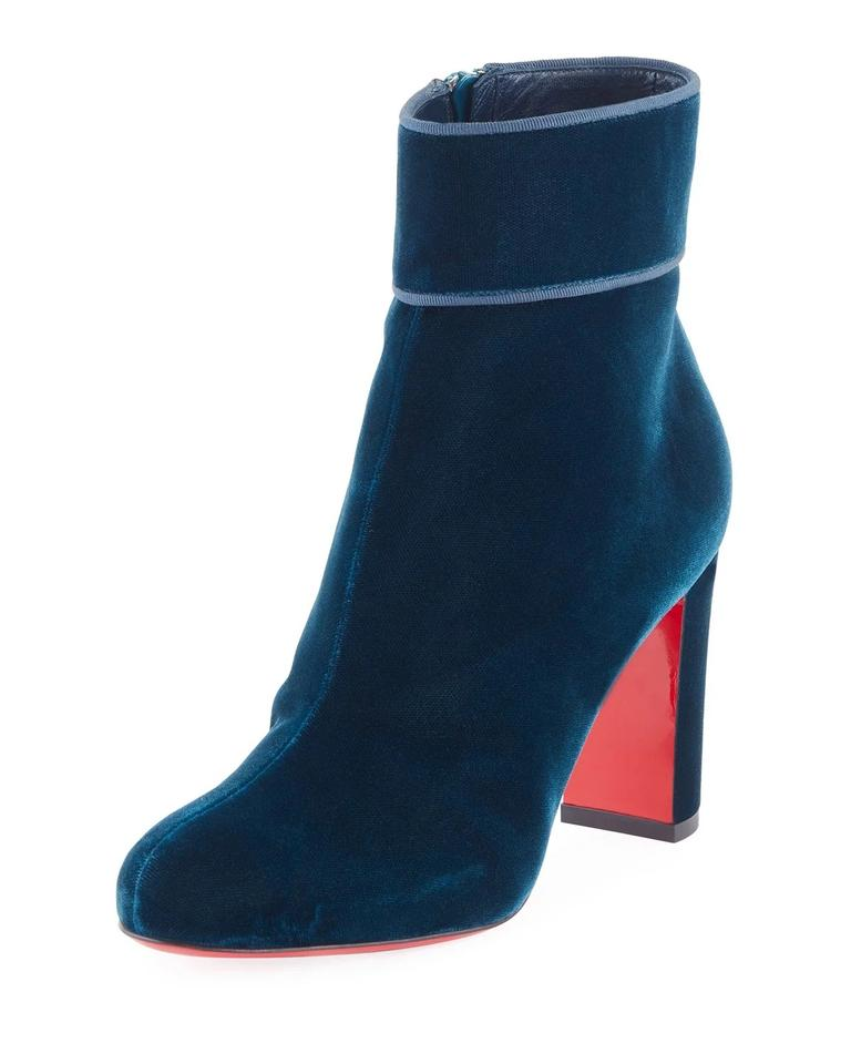 f7a725b31d6 Christian Louboutin Moulamax Velvet 85mm Red Sole Boots/Booties Size EU 38  (Approx. US 8) Regular (M, B) 15% off retail