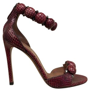 ALAÏA Stiletto Bombe Snakeskin Sandal red Pumps