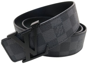 Louis Vuitton Louis Vuitton Black Damier Graphite Initiales 38mm Belt