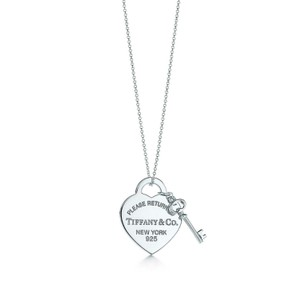 Tiffany & Co. Heart tag with key necklace