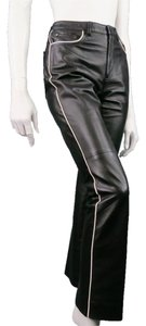 Ralph Lauren Tuxedo Stripe Piping Contrast Leather Straight Leg Jeans