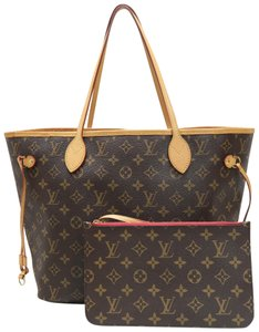 Louis Vuitton Lv Canvas Neverfull Mm Shoulder Bag