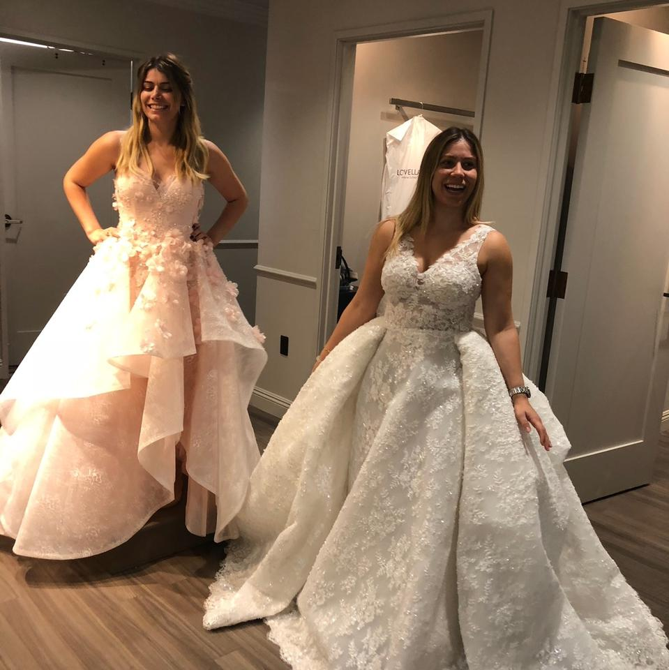 Zuhair Murad Pure White Horse Hair and Beaded Lace Bridal ...