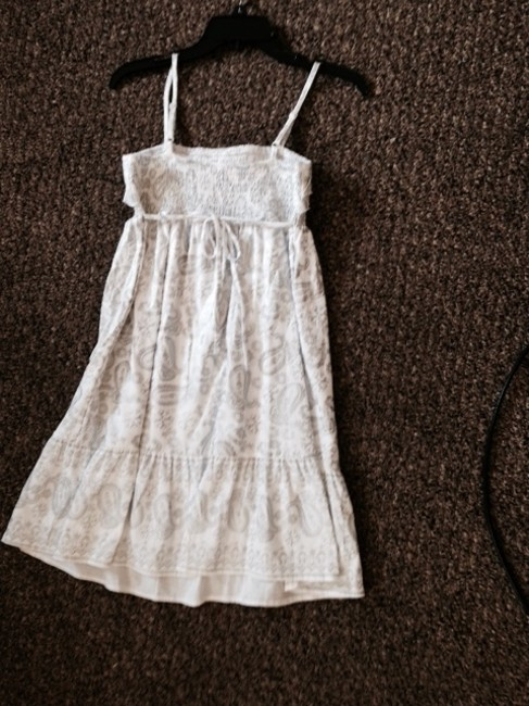 Justice short dress White and Silver on Tradesy