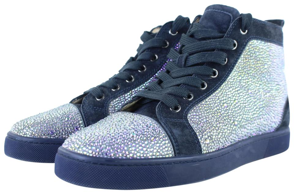 9157f5486fc Christian Louboutin Dark Blue  walmart  Crystal Strasse Louis High Top  Sneakers 2clj1223 Sneakers