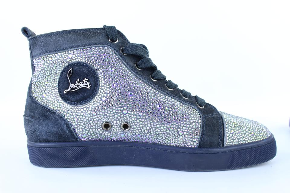 3680b9869c3 Christian Louboutin Dark Blue  walmart  Crystal Strasse Louis High ...