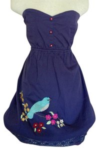 Judith March short dress Navy Cotton on Tradesy