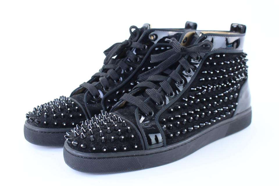 50e60cb0038 Christian Louboutin Black Sold 8 23 18 Lm Fh Lm Suede Crystal Tip Spike  Louis 7clb1222 Boots Booties