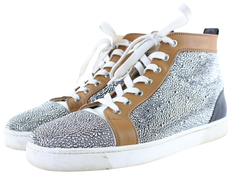 quality design d7931 39203 Christian Louboutin Brown Crystal Strass Louis High Top Sneaker 10clb1222  Boots/Booties Size EU 43 (Approx. US 13) Regular (M, B) 86% off retail