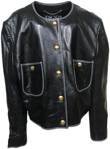 Escada Vintage Margaretha Ley Leather Jacket