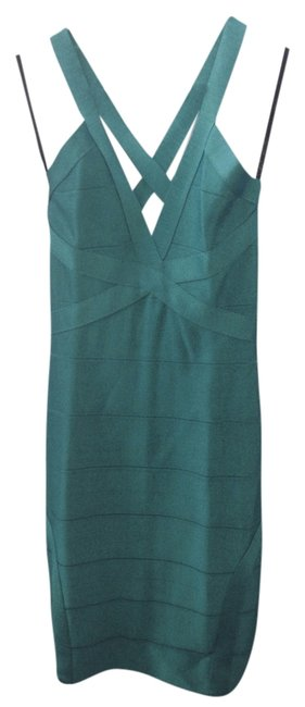 Item - Turquoise Green Bandage Mid-length Night Out Dress Size 4 (S)