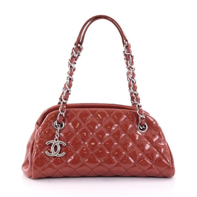 Item - Mademoiselle Just Handbag Quilted Small Red Patent Leather Shoulder Bag
