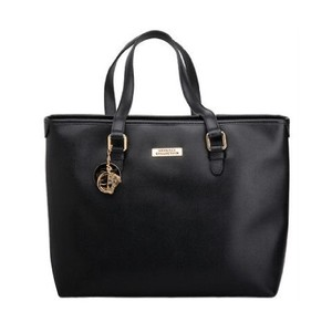 e8a9ff1cd859 Versace Collection Leather Bags Tote Bags Saffiano Leather Satchel in Black