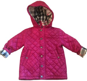 Burberry Girls Quilted Plaid Coat