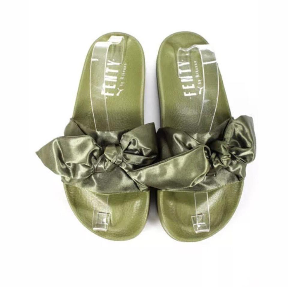 FENTY PUMA by Rihanna (Nwot)satin Slides Flats Size US 8 Regular (M ... 3287b42c8