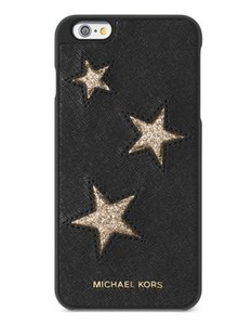 Michael Kors Michael Kors Leather iPhone 6 Cover Black