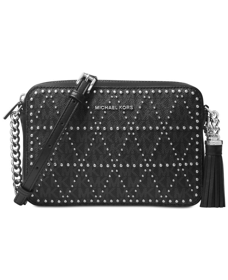 dce9fd3d0f97 Michael Kors Leather Grommeted Studded Cross Body Bag Image 0 ...