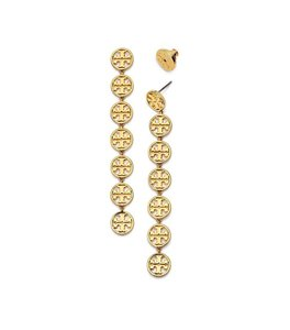Tory Burch Brand New Tory Burch Linear Logo Earrings in Gold