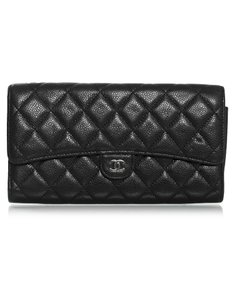Chanel Quilted Wallet black Clutch