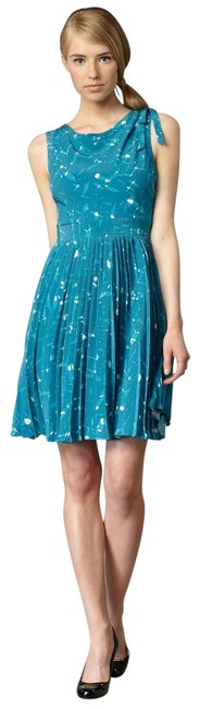 Preload https://img-static.tradesy.com/item/22659142/kate-spade-blue-teal-melody-silk-pleated-mid-length-cocktail-dress-size-2-xs-0-1-650-650.jpg
