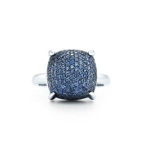 Tiffany & Co. Tiffany & CO Paloma's Sugar Stacks 18K Ring Sapphire White Gold
