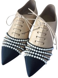 Chanel Loafers Oxfords Oxford Loafers NEW Beige Pumps