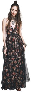 Free People Tulle Flowy Strapless Maxi Dress
