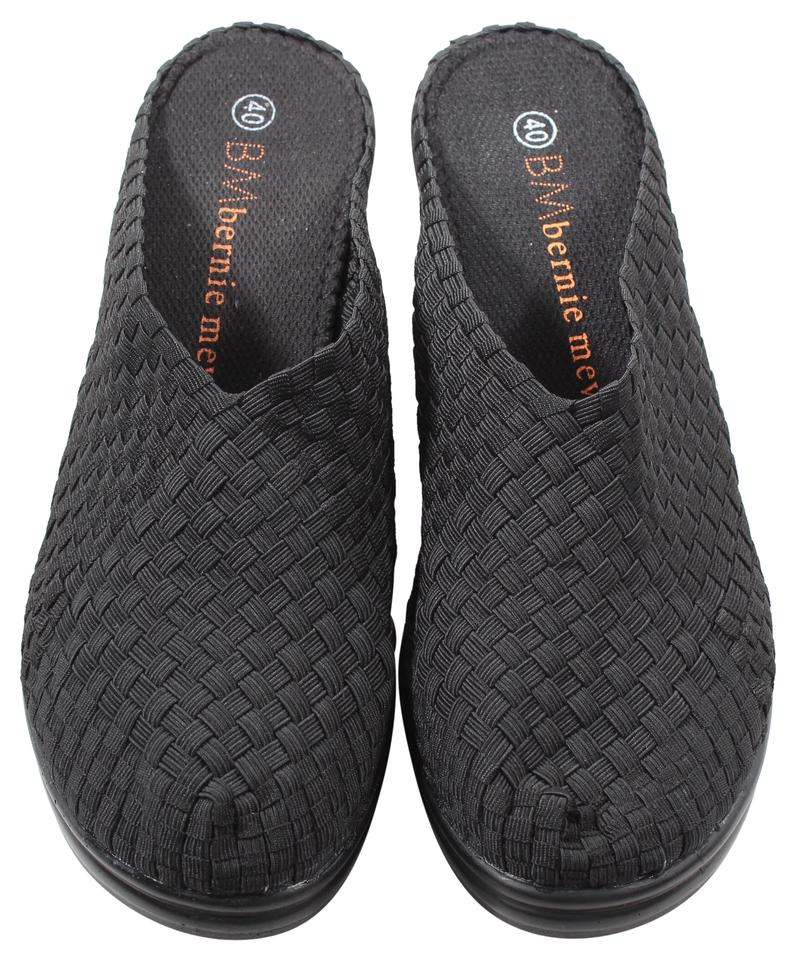 bernie mev black woven mules slides size eu 40 approx us. Black Bedroom Furniture Sets. Home Design Ideas