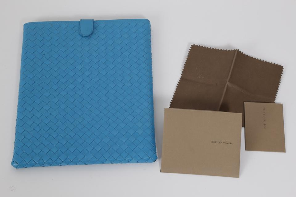 fb1e008769aa Bottega Veneta Blue Turquoise Woven Ipad Case Cover Tech Accessory - Tradesy