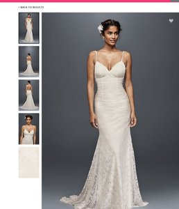 Galina ivory polyester soft lace with low back formal wedding galina ivory polyester soft lace with low back formal wedding dress size 8 m junglespirit Gallery