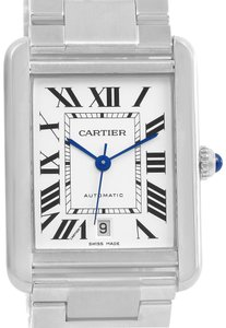 Cartier Cartier Tank Solo XL Automatic Silver Dial Mens Watch W5200028