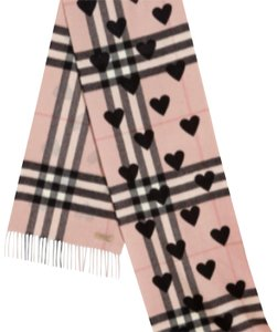Burberry Burberry The Classic Cashmere Scarf in Check and Hearts NWT