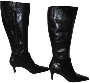 Circa Joan & David Side Zipper Tall Leather Leather black Boots