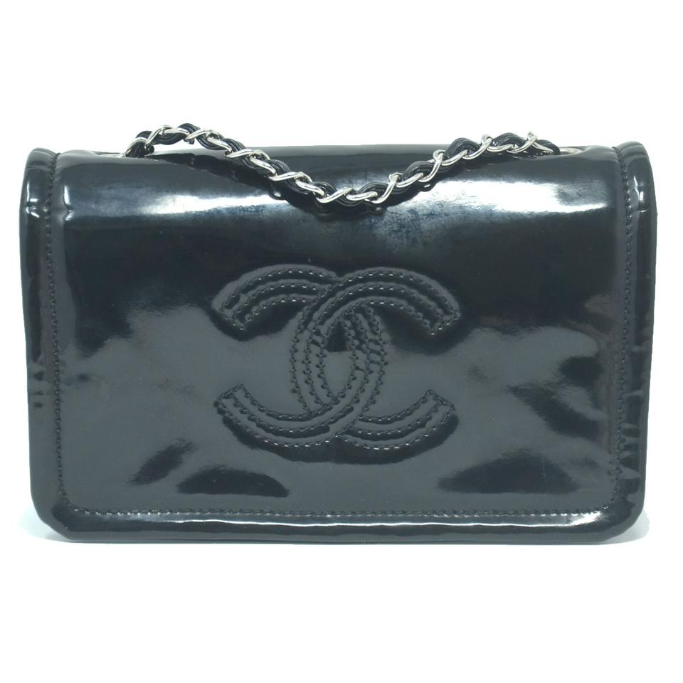 f39aabdc307813 Chanel Clutch Black Patent Leather Cross Body Bag - Tradesy