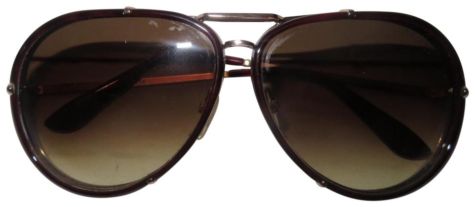 80ded10e16cb7 Tom Ford Tom Ford Women s Aviator Brown Authentic Sunglasses Gradient Metal  Oval Image 0 ...